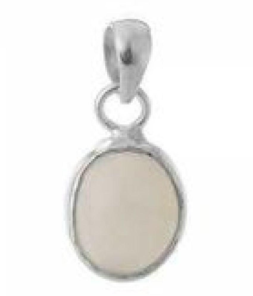 Natural MOONSTONE  3 Carat   silver Pendant  by  Ratan Bazaar\n