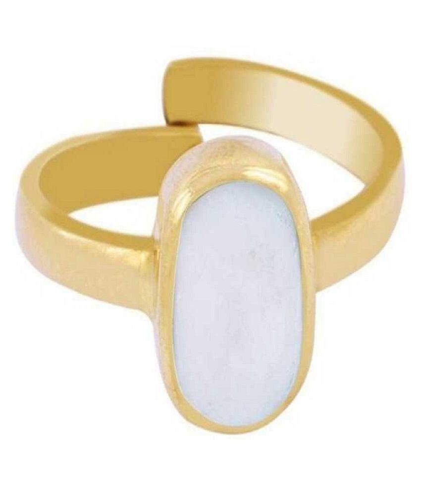 Original Natural Certified OPAL 7.5 Carat Adjustable gold plated Ringby Kundli Gems