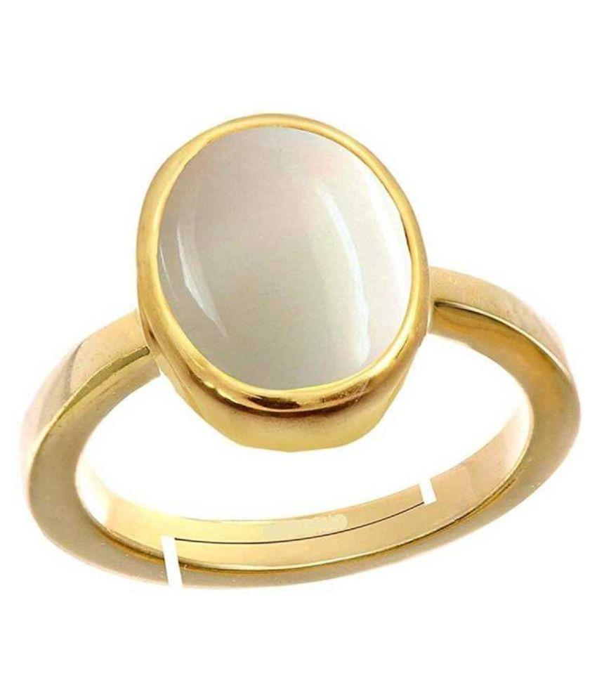 Original OPAL Stone Lab Certified Stone 5.5 Ratti Gold Plated Ring by Kundli Gems