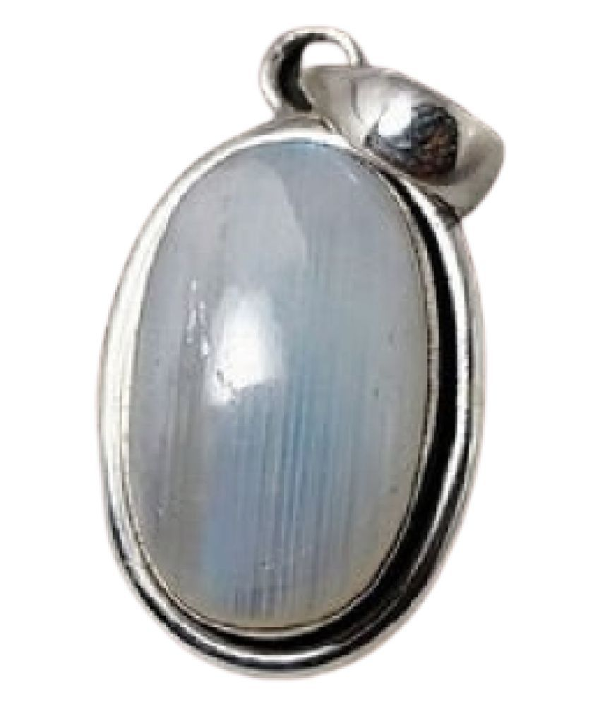 100% Original MOONSTONE  Unheated & Natural MOONSTONE / silver Pendant by   Ratan Bazaar