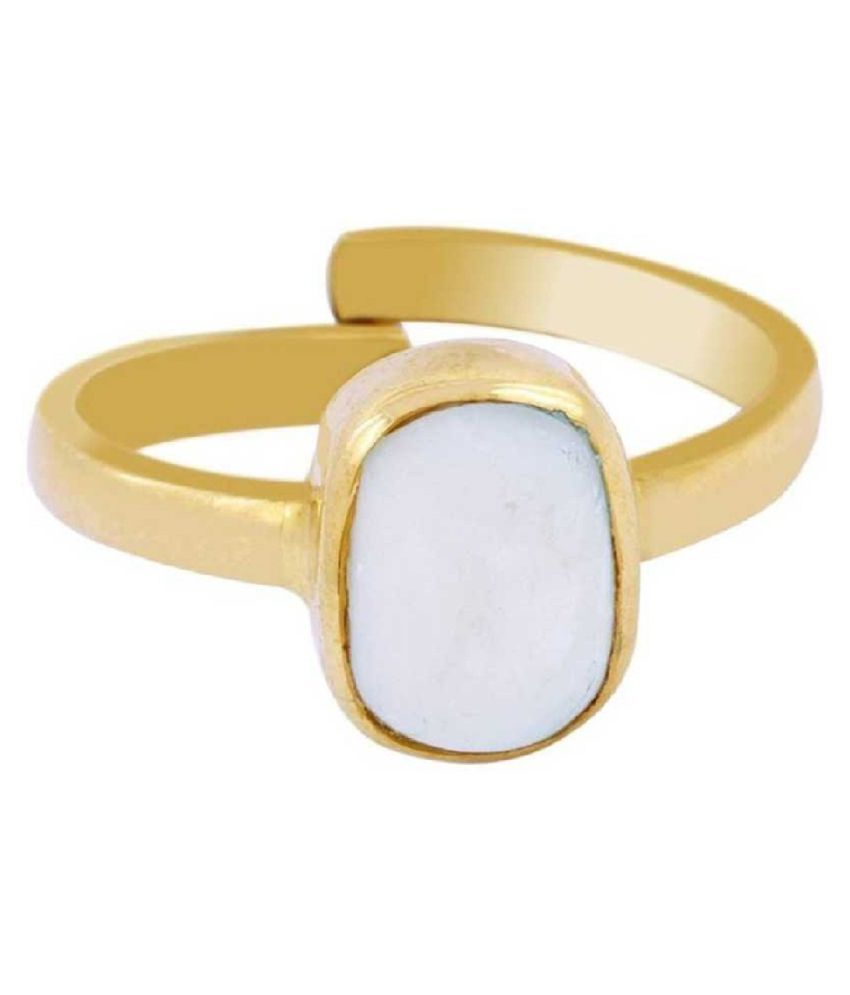9 ratti Natural  OPAL  Stone Adjustable panchdhatu Gold Plated Ring for Astrological OPAL  Ring