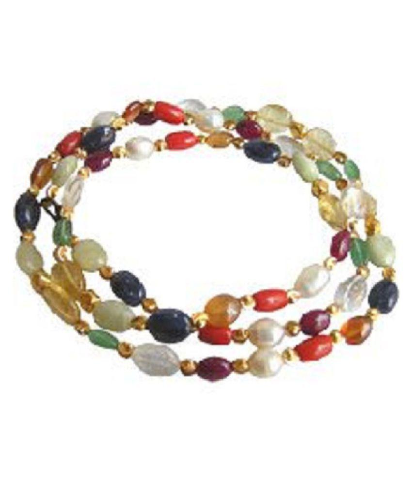 Kundli gems Natural & Original Stone  Navratna Beads mala  Lab Certified & Effective stone  Navgrah Beads Mala