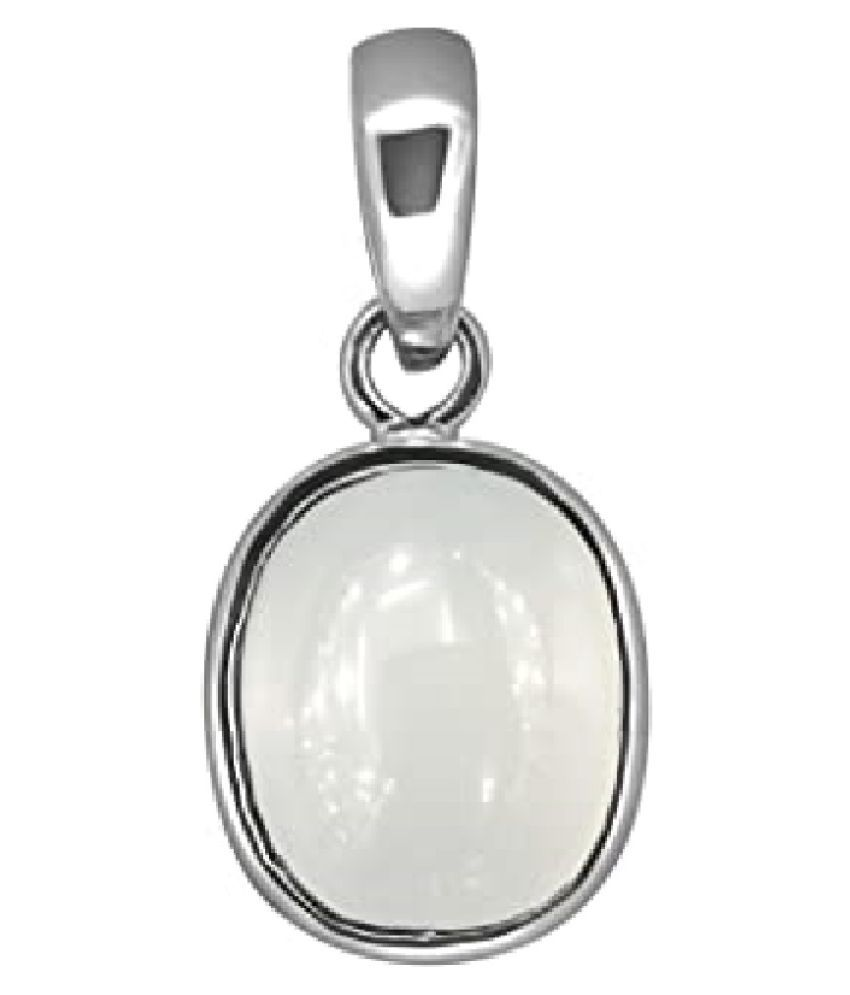 MOONSTONE  Pendant 7 carat  silver Pendant  by   Ratan Bazaar