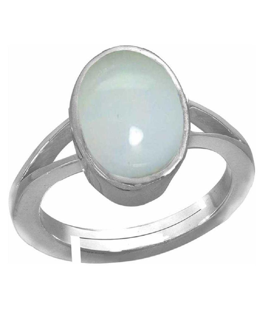 Natural 12 carat OPAL  silver Ring by Kundli Gems\n