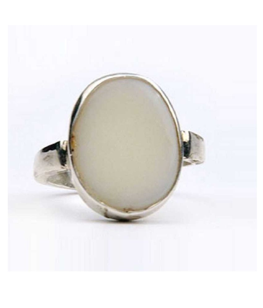 5 Ratti OPAL  Ring Natural  Silver Stone Ring by Ratan Bazaar