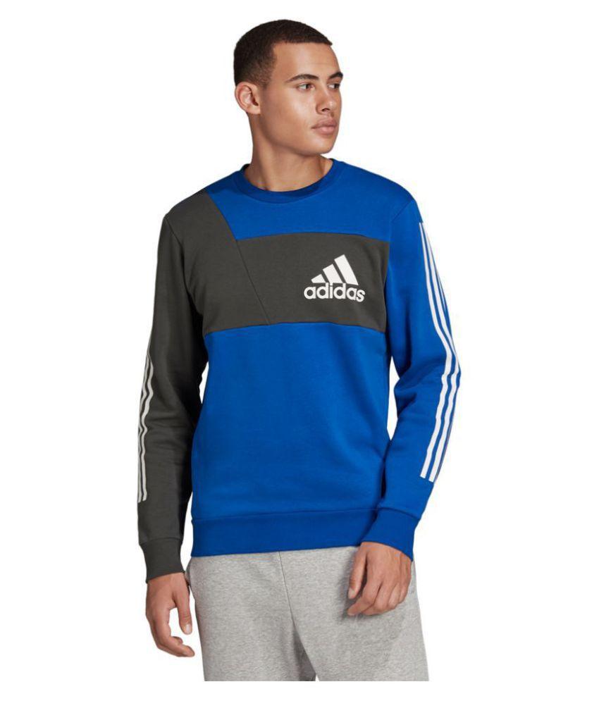 Adidas Blue Poly Cotton Sweatshirt