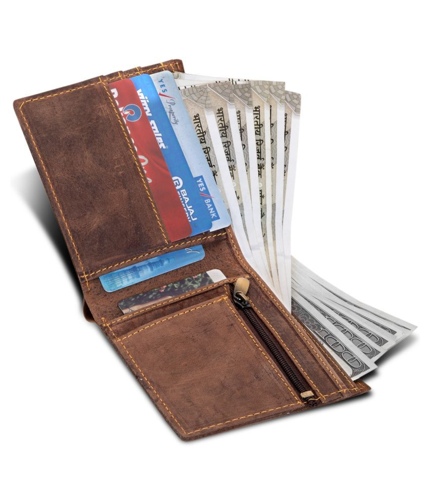 DARK ROMANCE Faux Leather Brown Casual Regular Wallet