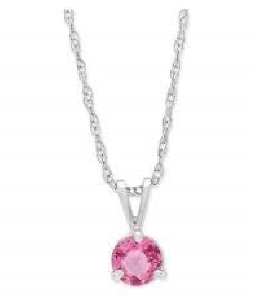 5.5 RATTI  Silver  Pink Sapphire  Pendant  by Kundli Gems\n