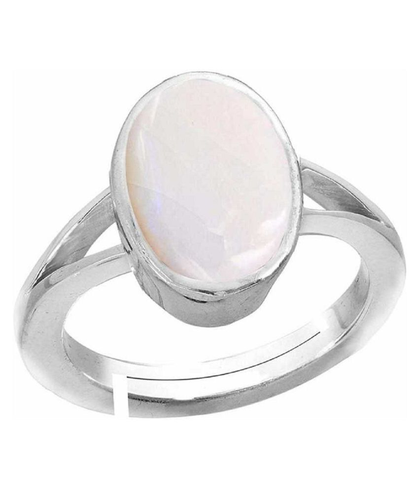 6 carat Natural silver  OPAL  Ring by Ratan Bazaar\n