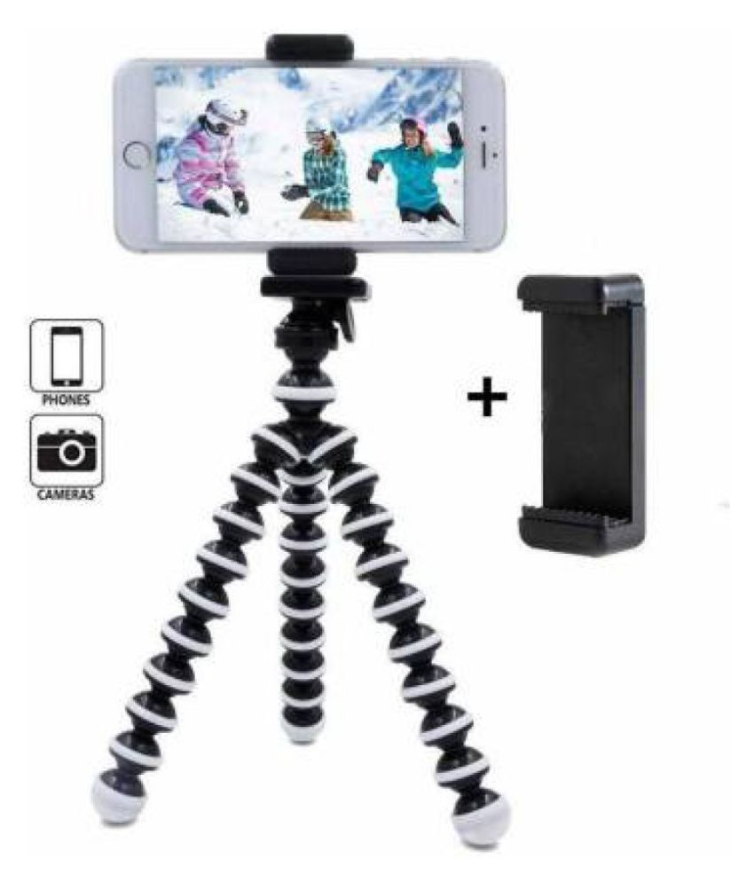 ADZOY PREMIUM Gorilla Tripod Fully Flexible Foldable Octopus Medium Size Stand for Mobile Smartphones, DSLR Cameras