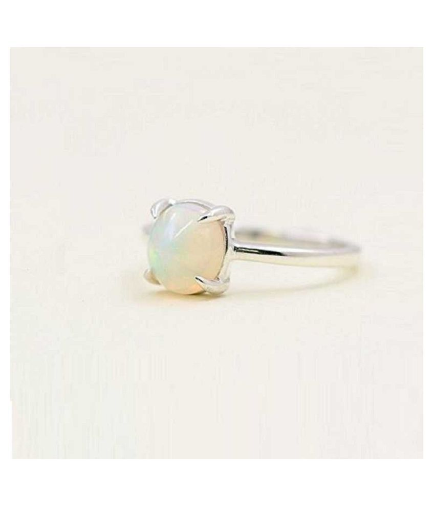8 Carat Stone OPAL  Silver Ring for unisex by Ratan Bazaar\n