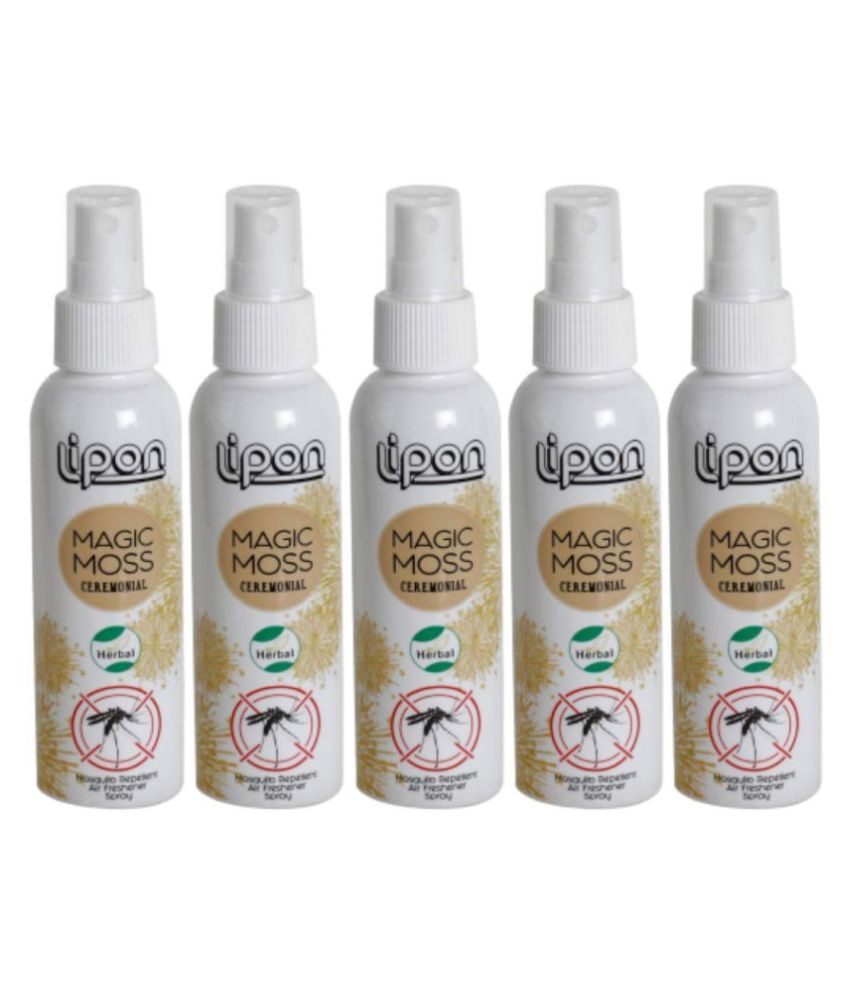 LIPON  Magic Moss Herbal Mosquito Repellent & Air Freshener Spray 100 ml Pack of 5 (CEREMONIAL)