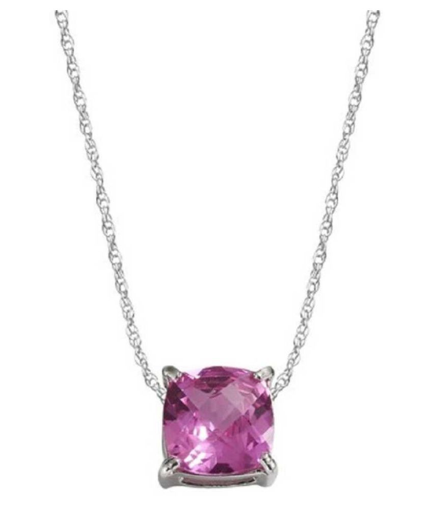 10.5 Carat Natural Stone silver Pink Sapphire  Pendant for unisex by Kundli Gems\n