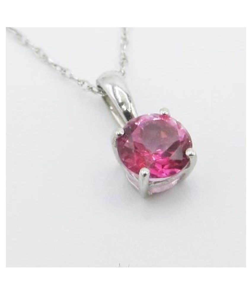 9.5 Carat  Pink Sapphire   Pendant with lab Report silver Pink Sapphire  Stone by Kundli Gems