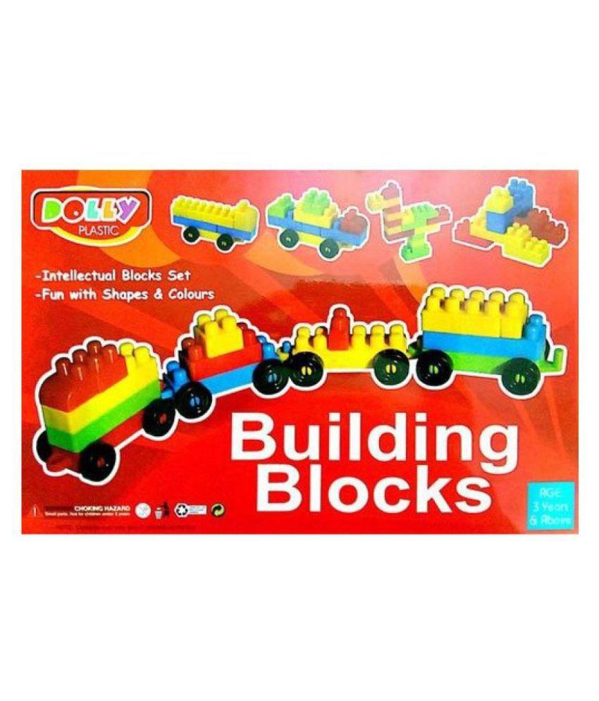 CRETE Skill Development Kids Dolly Plastic Building Blocks For Kids  Multicolor