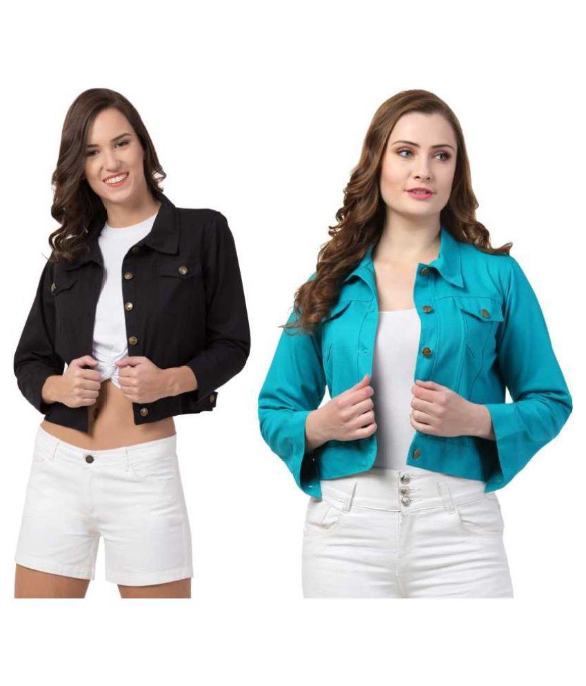 Dress Universal Cotton Blend Multi Color Jackets