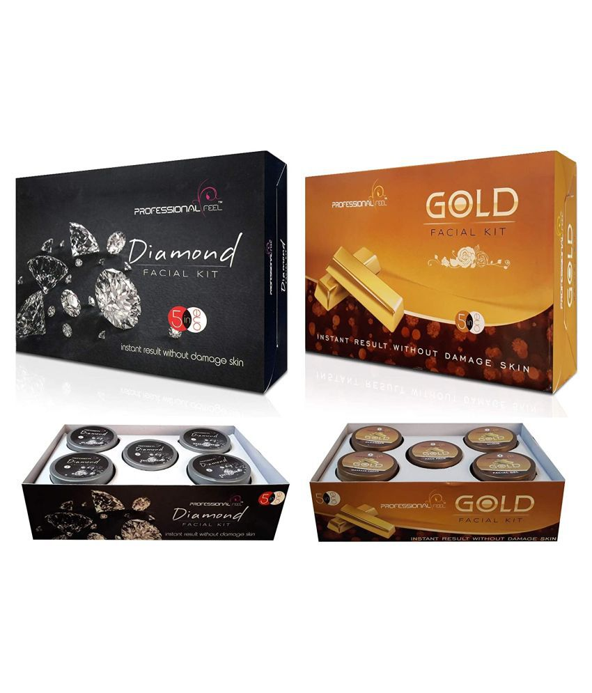 Professional Diamond & Gold Facial Kit 500 g Pack of 2