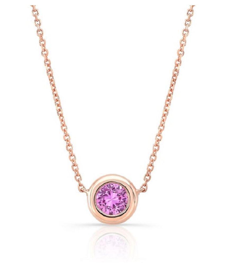 8.25 RATTI  Gold Plated  Pink Sapphire  Pendant  by  Ratan Bazaar\n