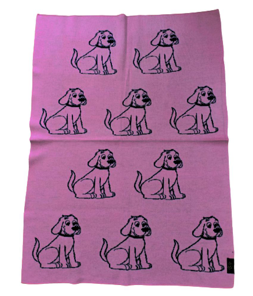 KOKIWOOWOO Premium Soft and Cozy Finely Knitted Woolen Dog Blanket Pink