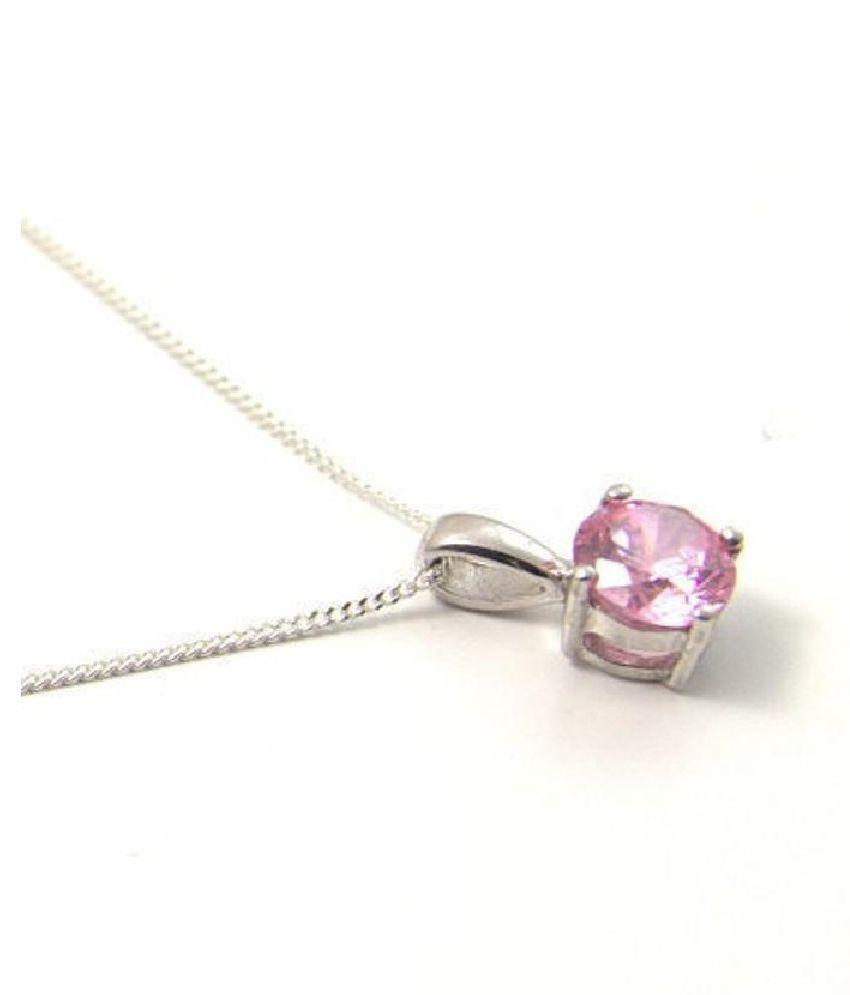 Pink Sapphire  Pendant 8.25 Ratti 100% Original silver Pink Sapphire  Stone by  Ratan Bazaar