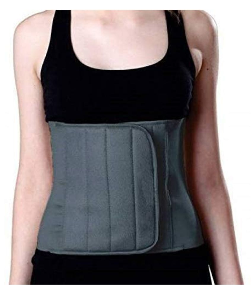 NIPM Abdominal Belt For Pain Relief(Medium,Grey) Abdominal Support M