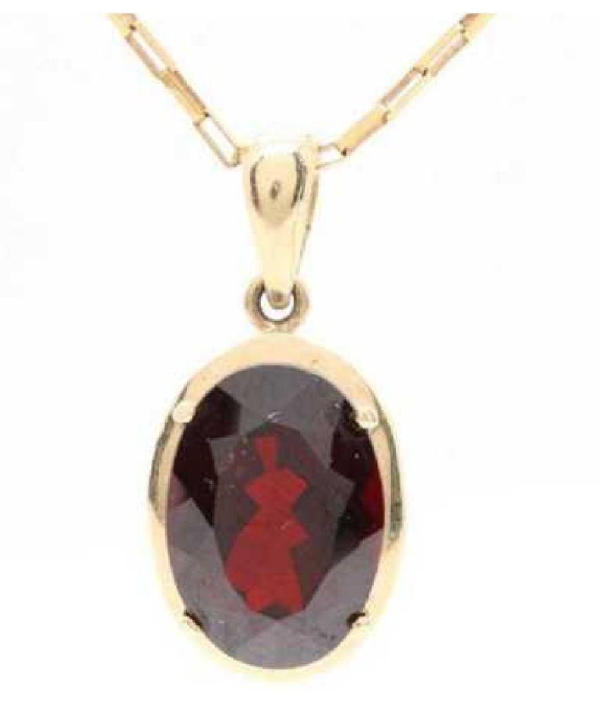 9.25 carat Natural Gold Plated Hessonite (Gomed)  Pendant by  Ratan Bazaar\n