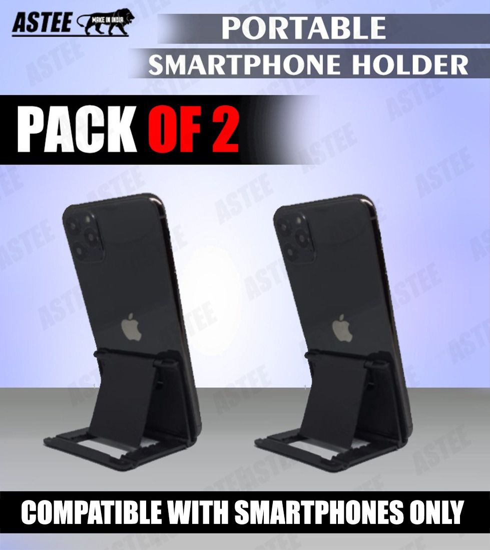 Astee Multi Angle Flexible Adjustable Fold Stand Mobile Holder(Pack of 2)