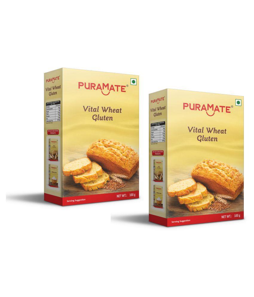 Puramate Vital Wheat Gluten, 100 g Pack of 4