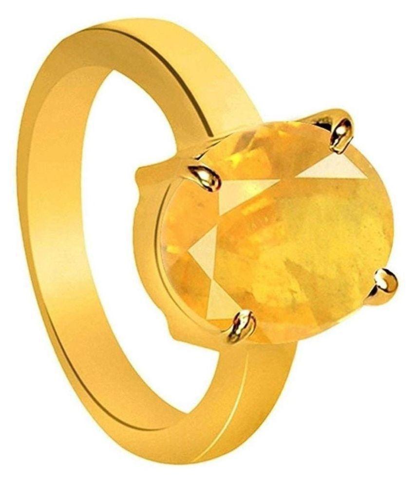 Yellow Sapphire 8.25 Ratti Pukhraj Stone