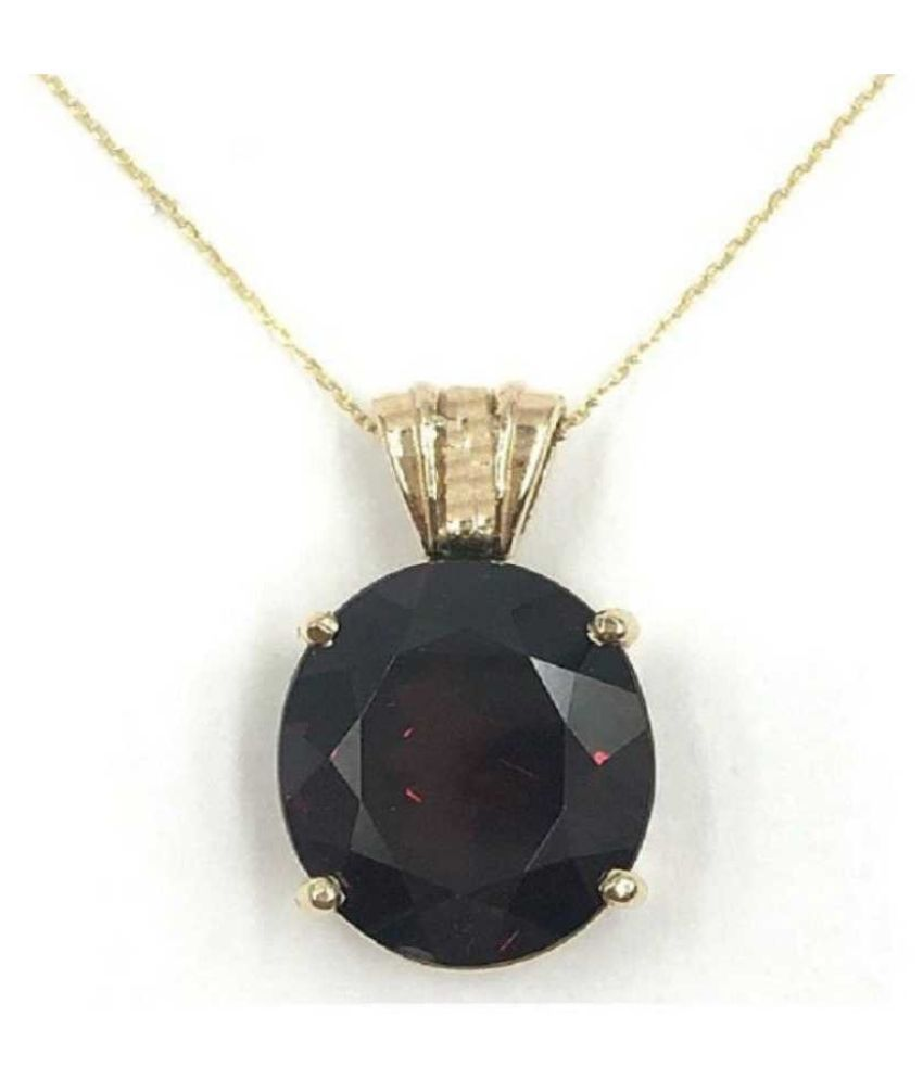 Hessonite (Gomed)  Pendant 5.5 carat  Gold Plated Pendant  by  KUNDLI GEMS