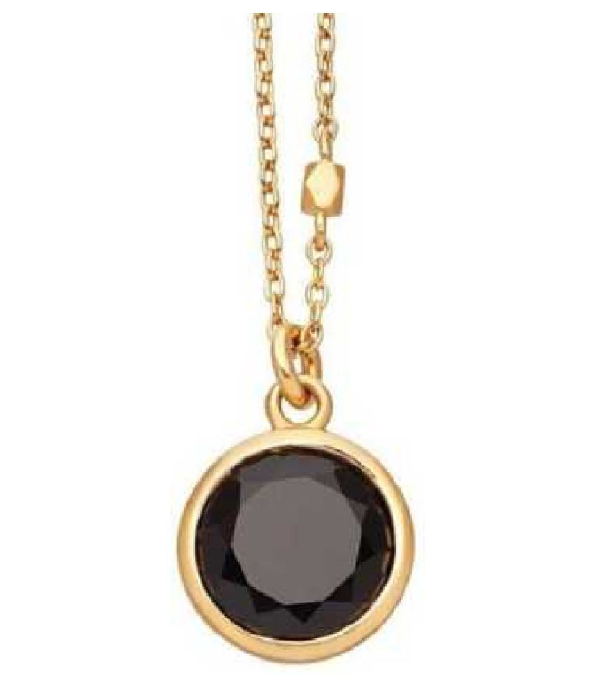 Certified 8.5 Carat  Gold Plated Hessonite (Gomed)  Stone Pendant by KUNDLI GEMS
