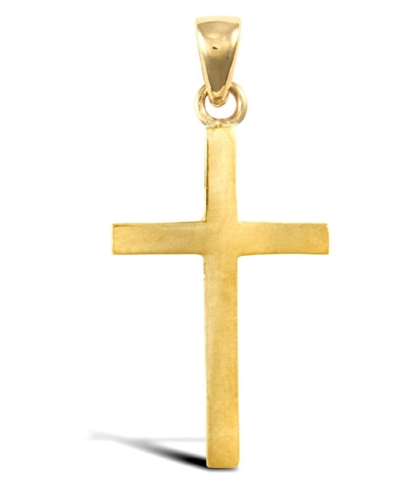 Original Gold Plated Plating jesus cross Pendant Without Chain by Kundli Gems