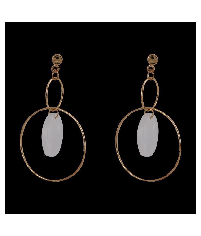 SILVER SHINE  Alluring Golden Grey Earrings for Women