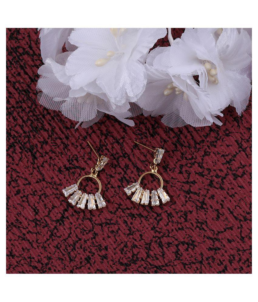 SILVER SHINE  Gold Plated Designer Stylish Stud Earring For Women Girl