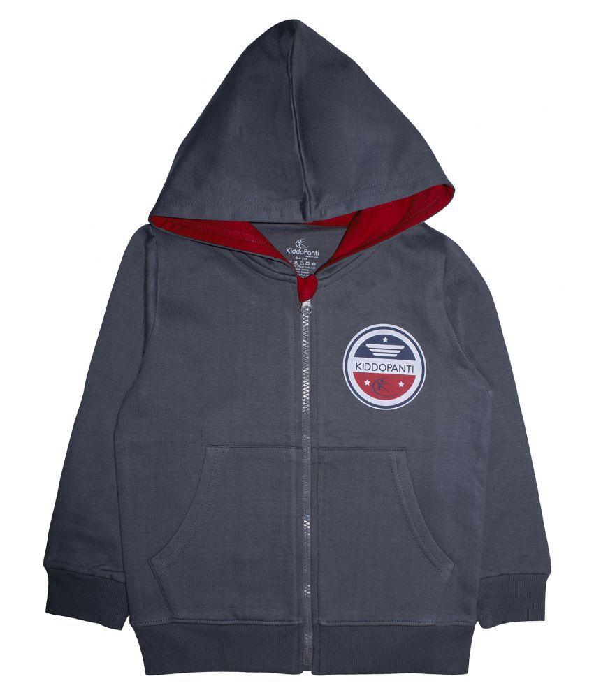 Boys Front Open Hooded Sweatshirt