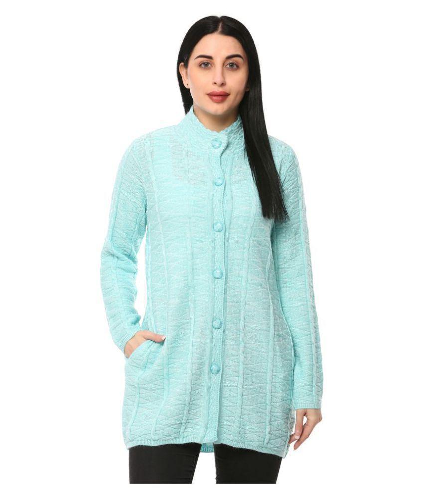Glamaze Acrylic Blue Buttoned Cardigans