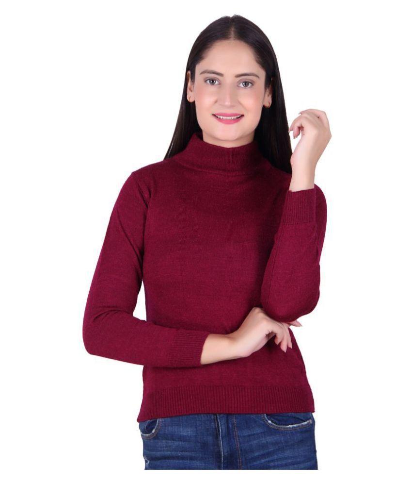 Ogarti Acrylic Maroon Pullovers