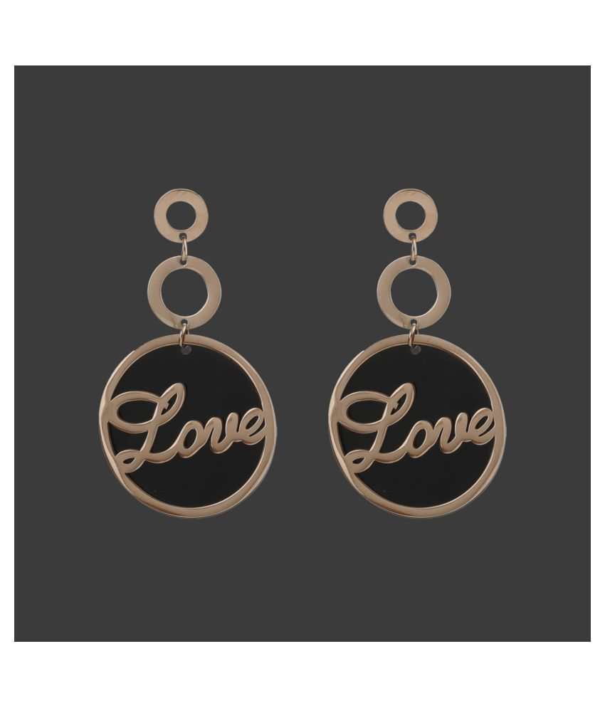 SILVER SHINE  Exclusive Gold Trendy Alloy Dangler And Drop Earring