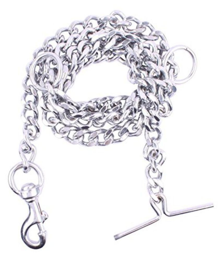 JSK Stylish Dog Chain Silver Twisted No.8 (L - 60inch) for Dogs