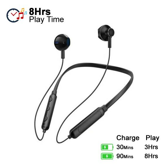 Vippo Star Magnetic Bluetooth VNB 149 Neckband cloud search Syska In Ear Wireless Earphones With Mic