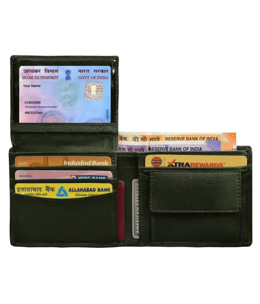 ABYS Leather Green Formal Regular Wallet