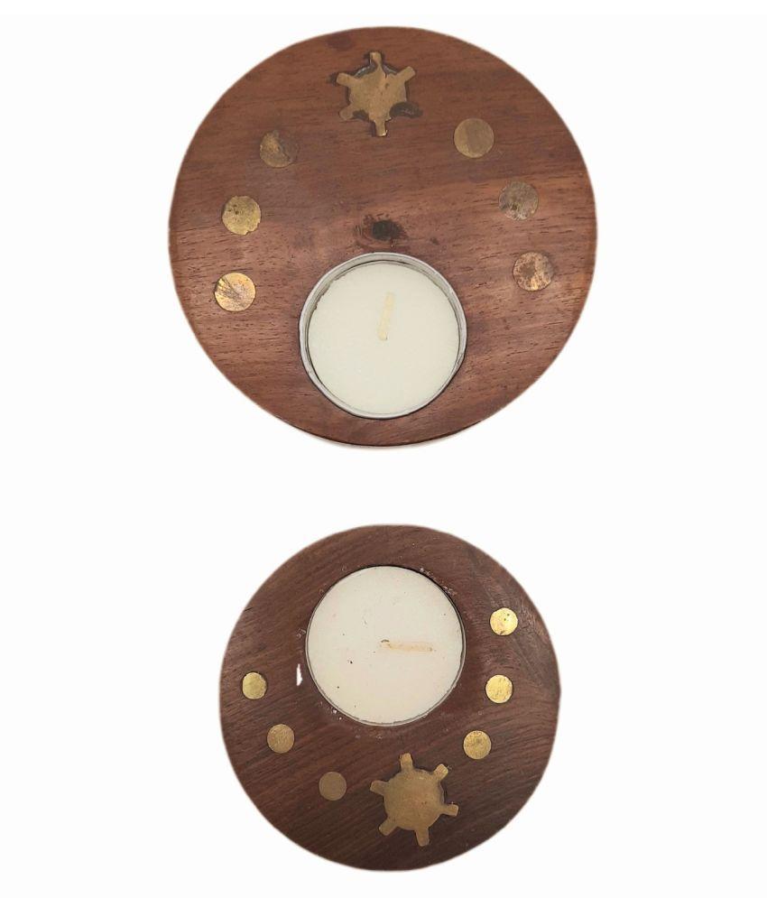 Curio Rack Wood Diwali Diyas - Pack of 2
