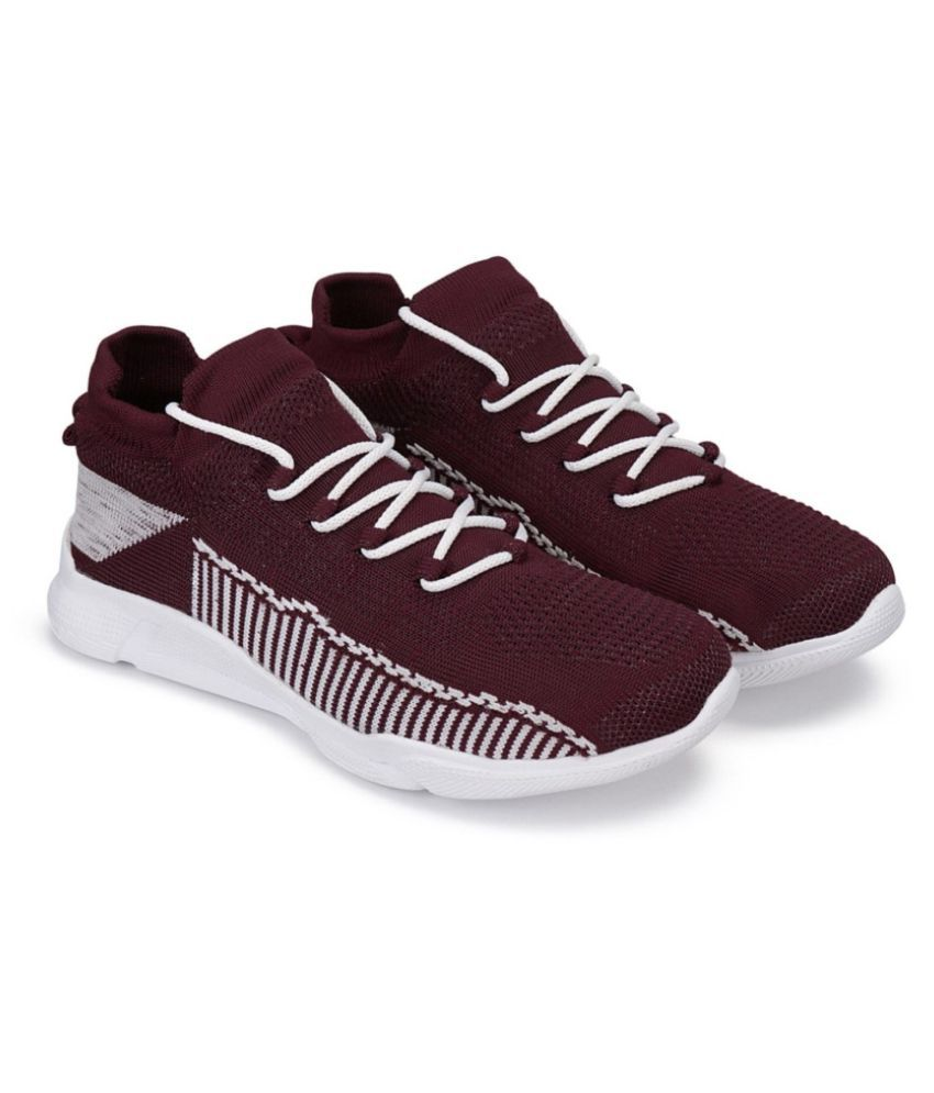Airfly Stylish winter 114 Maroon Running Shoes