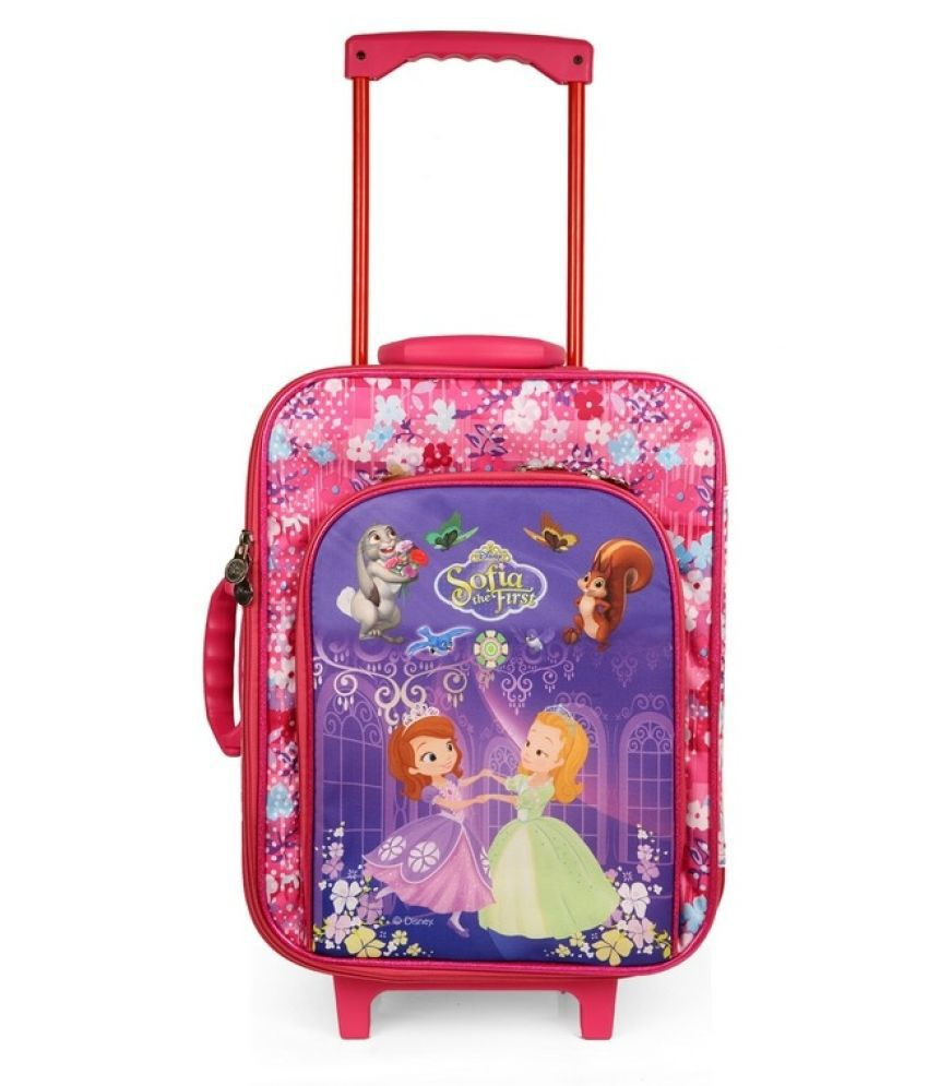 Disney Pink Polyester Trolley Backpack