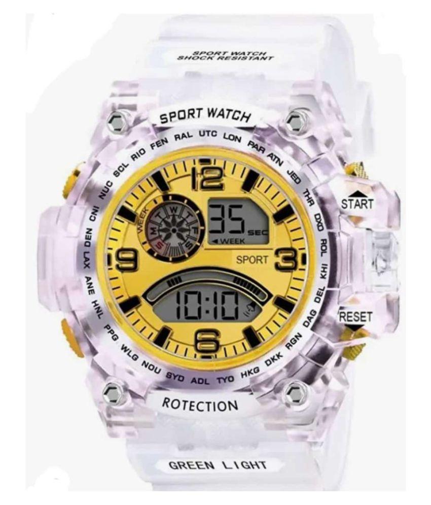 HERITA ENTERPRISES digital yellow PU Digital Men's Watch