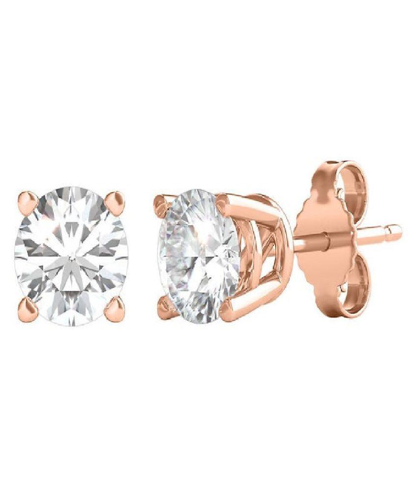 Kundli Gems - Original  American Diamond Stone Gold Plated Earrings  Earrings For Women
