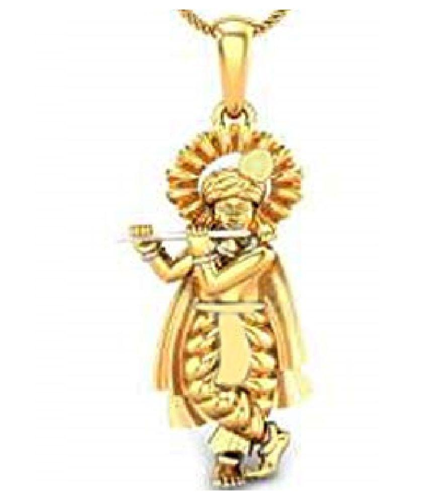 Kundli Gems - Shri Krishna Pendant  Gold Plated  for Men & Women