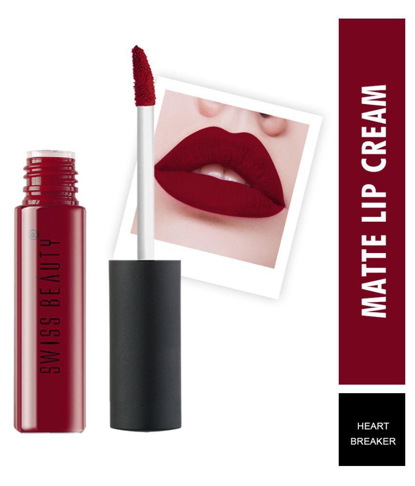 Swiss Beauty soft Matte Lipstick (Heart Breaker), 6ml