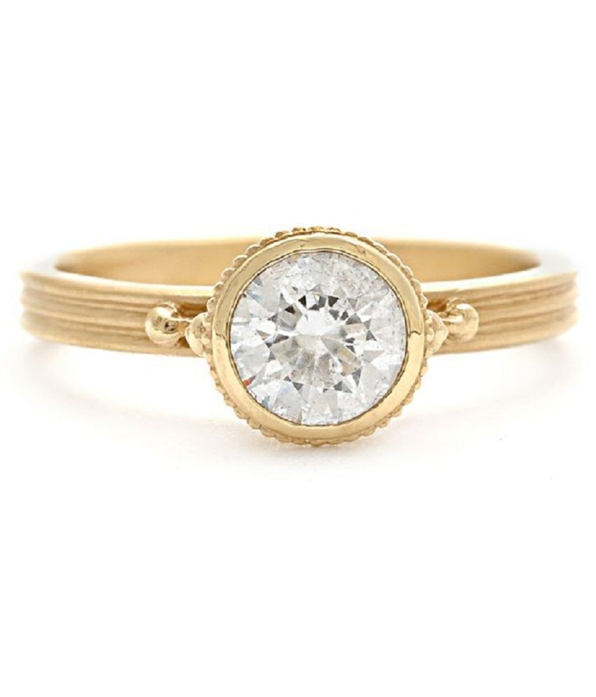Natural Lab Certified 5.25 carat  Original White Sapphire Stone Gold Plated Ring for unisex by KUNDLI GEMS\n