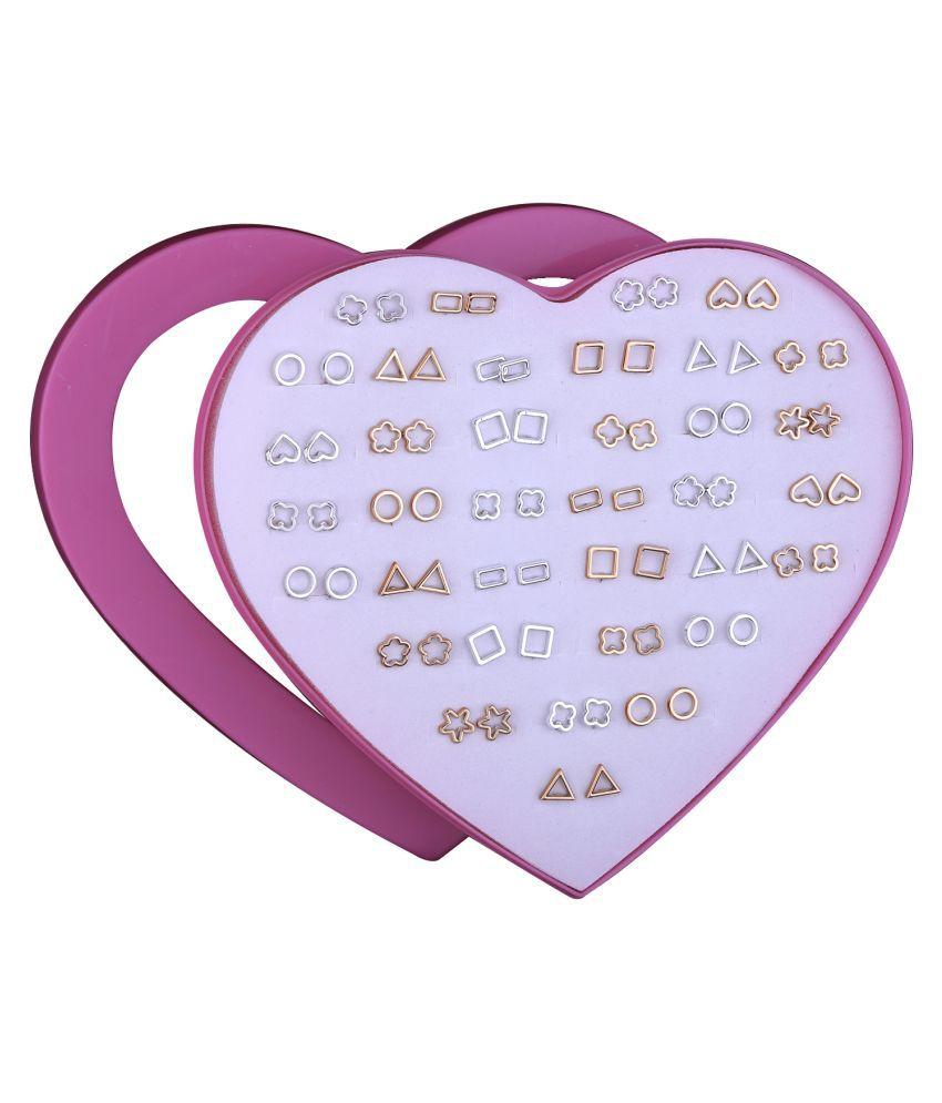 Stud Earring Facinating Multicolor Set of 36 Earrings for Women